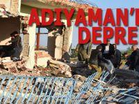 Adıyaman'da deprem; yıkılan binalar ve yaralılar var!