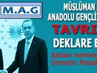Müslüman Anadolu Gençliği de tavrını deklare etti!