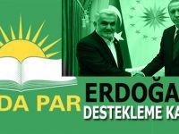 (HÜDA PAR) Cumhurbaşkanı Seçimi'nde Recep Tayyip Erdoğan'ı destekleme kararı aldı