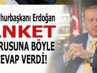 Cumhurbaşkanı Erdoğan, anketlerle ilgili soruya böyle cevap verdi!