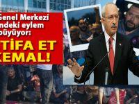 """""""İstifa et Kemal!"""" CHP Genel Merkezi önündeki eylem büyüyor!"""