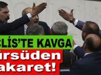 Meclis'te kavga; HDP'li Ahmet Şık kürsüden hakarete başlayınca ortalık karıştı!