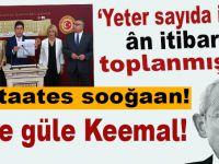 """Kılıçdaroğlu güm; """"Yeter sayıda imza ân itibariyle toplanmıştır!"""""""