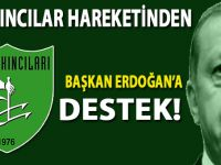 Akıncılar hareketinden Başkan Erdoğan'a destek!