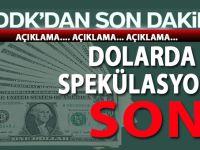 Dolarda spekülasyona son verecek adım!