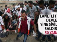 Lanetli terör devleti yine sivillere saldırdı; 50 yaralı!