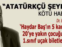 Atatürkçü şeyh Haydar Baş'a mahkemeden kötü haber!