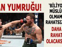 İman yumruğu o kibirli burnun üzerinde böyle patladı; Khabib, McGregor böyle patakladı!
