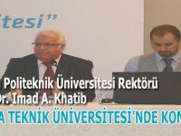 Filistinli Prof. Dr. İmad, Bursa Teknik Üniversitesi'nde konuştu!