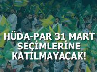 HÜDA PAR 31 Mart seçimlerine katılmama kararı aldı!