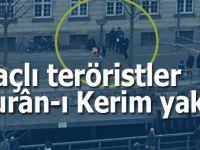 Haçlı teröristler bu defa da Kurân-ı Kerim'i yaktılar!