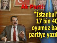 """AK Parti: """"İstanbul'da 17 bin 410 oyumuz başka partiye yazılmış..."""""""