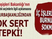 Türkiye'deki seçimlere burnunu sokan ABD'ye, Cumhurbaşkanlığından çok sert tepki!