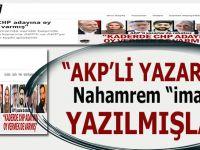 """""""AKP'li yazarlar"""" namahrem """"imam"""" efendiye """"yazılmışlar..."""""""
