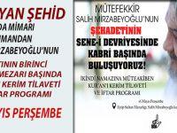 Yaşayan şehid, İbda Mimarı mütefekkir Salih Mirzabeyoğlu'nun kabri başında buluşuyoruz!