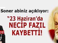 """Soner Yalçın'a göre 23 Haziran'ın """"asıl kaybedeni Necip Fazıl""""mış..."""