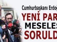 """Cumhurbaşkanı Erdoğan'a """"Yeni Parti"""" meselesi soruldu!"""