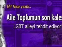 Elif Nisa yazdı; LGBT Aileyi tehdit ediyor!