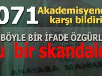 """1071 Akademisyenden bildiri: """"Anayasa Mahkemesi terörü meşrulaştıramaz!"""""""