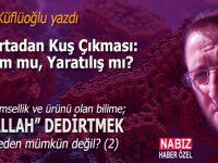 """Ayhan Küfülüoğlu yazdı; """"Yumurtadan Kuş Çıkması; Oluşum mu, Yaratılış mı?"""""""
