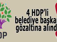 HDP'li belediye başkanları gözaltın alındı!