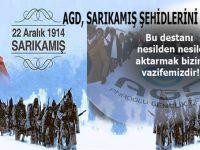 """Anadolu Gençlik Derneği: """"Sarıkamış destanının nesilden nesile aktarmak bizim vazifemizdir!"""""""