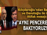 """Kılıçdaroğlu: """"Ali Babacan ve Ahmet Davutoğlu ile aynı pencereden bakıyoruz."""""""