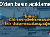 """AGD'den açıklama: """"Kültür emperyalizminin değil Fetih ruhunun yanında..."""""""