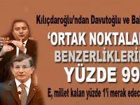 Kılıçdaroğlu'ndan Davutoğlu ve Babacan'a: Ortak noktalarda benzerliklerimiz yüzde 99