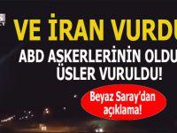 İran, ABD üslerini füzelerle vurdu!