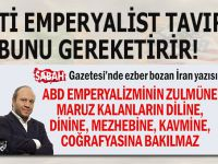 Salih Tuna'dan ABD emperyalizminin küstah saldırganlığına karşı net tavır!