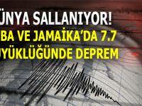 Dünya sallanıyor; Küba ile Jamaika'da 7.7 büyüklüğünde deprem