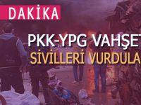 PKK-YPG vahşeti; masum sivilleri vurdular!