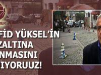 Mazlumder: Müfid Yüksel'in gözaltına alınmasını kınıyoruz!