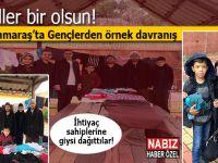 Kahramanmaraş'ta gönüllü gençlerden örnek davranış!