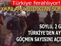 İçişleri Bakanı, 2 günde Türkiye'den ayrılan göçmen sayısını açıkladı!