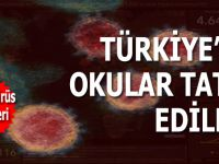 Türkiye'de ilk, orta ve liseler 16 Mart itibari ile tatil edildi!