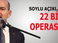 İçişleri Bakanı Soylu: 22 bin operasyon gerçekleştirdik!