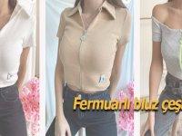 Önü Fermuarlı Bluz Modelleri Şimdi www.chamakhbutik.com'da!