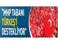 MHP tabanı Türkeş'i destekliyor