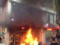 Kırşehir'de HDP'li adayın işyerini yaktılar!