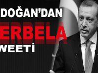 Erdoğan'dan Kerbela tweeti