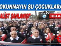 """10 Kasım'da """"Kemalist şahlanış""""; İlkokul önlüğü giyip andımızı okudular!"""