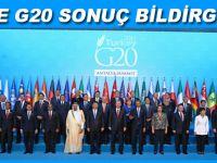 İşte G20 Sonuç Bildirgesi