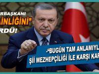 """Cumhurbaşkanı Erdoğan; """"İran ve Irak mezhep politikaları yürütüyor!"""""""