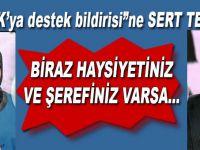 """PKK'yı destekleyen bildiriye sert tepki; """"Biraz şerefiniz, haysiyetiniz varsa..."""""""