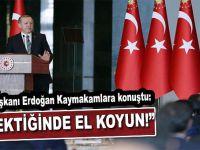 """Cumhurbaşkanı Erdoğan'dan Kaymakamlara; """"Gerektiğinde el koyun!"""""""