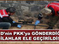 PYD'nin PKK'ya gönderdiği silahlar ele geçirildi