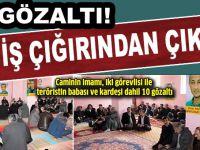 Terörist taziyesine operasyon: 10 gözaltı