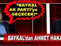 """Deniz Baykal, """"Ak Parti'ye geçecek"""" diye Ahmet Hakan'a cevap verdi!"""